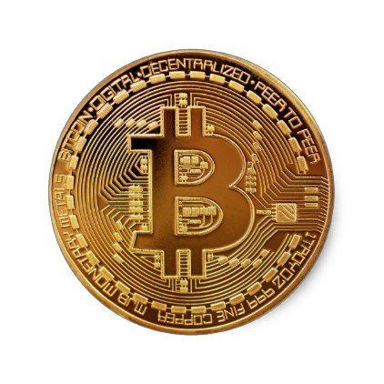 Bitcoin Logo Symbol Cryptocurrency Crypto Sticker | Zazzle.com | Bitcoin  logo, Bitcoin, Coins