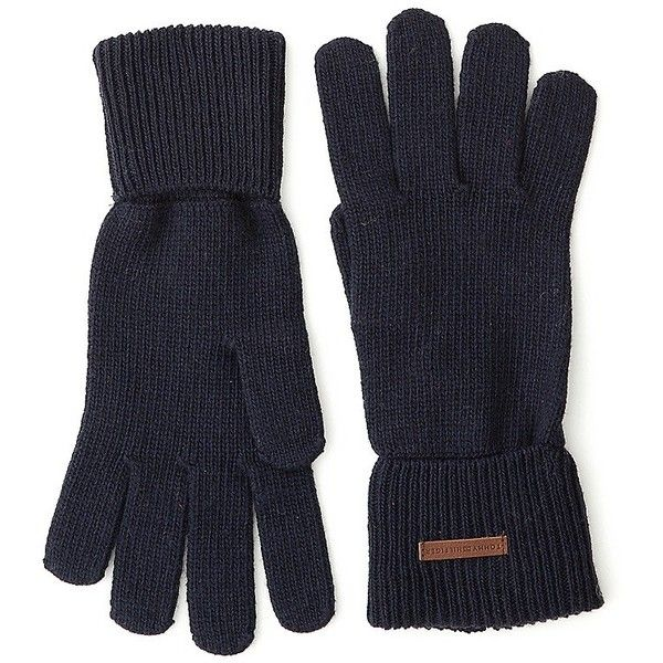 Tommy Hilfiger Classic Knit Gloves ($50) ❤ liked on Polyvore featuring accessories, gloves, tommy hilfiger and knit gloves