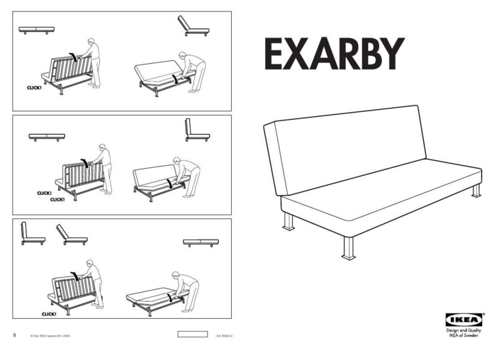 Ikea Futon Instructions Follow The Instructions In Writing To Arranging The Perfect Chair Being Easy To Make Very Simple And Ele Futon Bed Futon Bed Ikea Futon