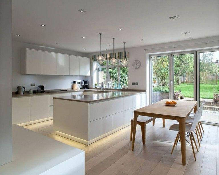 35 Amazing Modern Contemporary Kitchen Ideas Modern Kitchen Interiors Kitchen Design Interior Design Kitchen