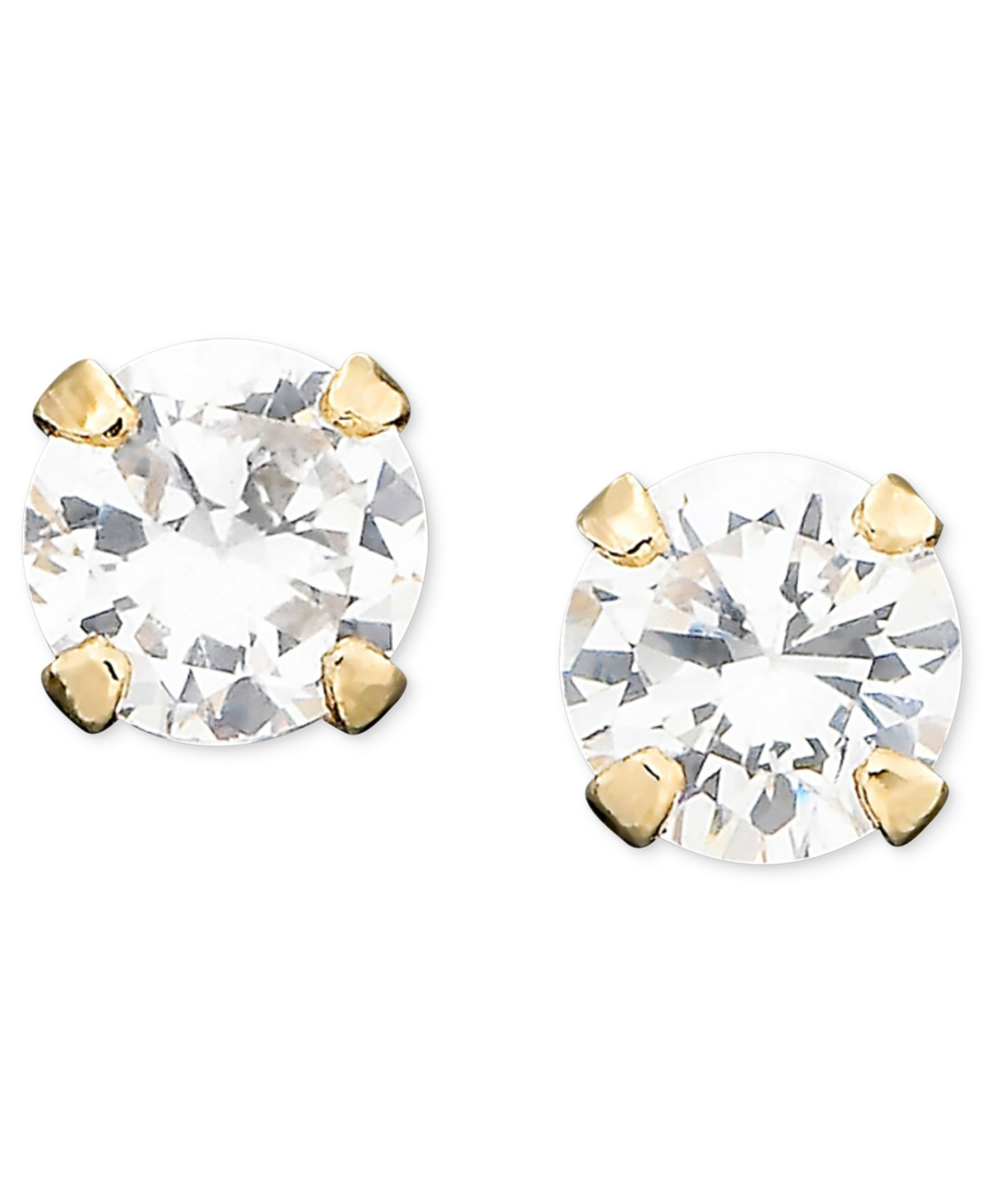 Children's 14k Gold Cubic Zirconia Stud