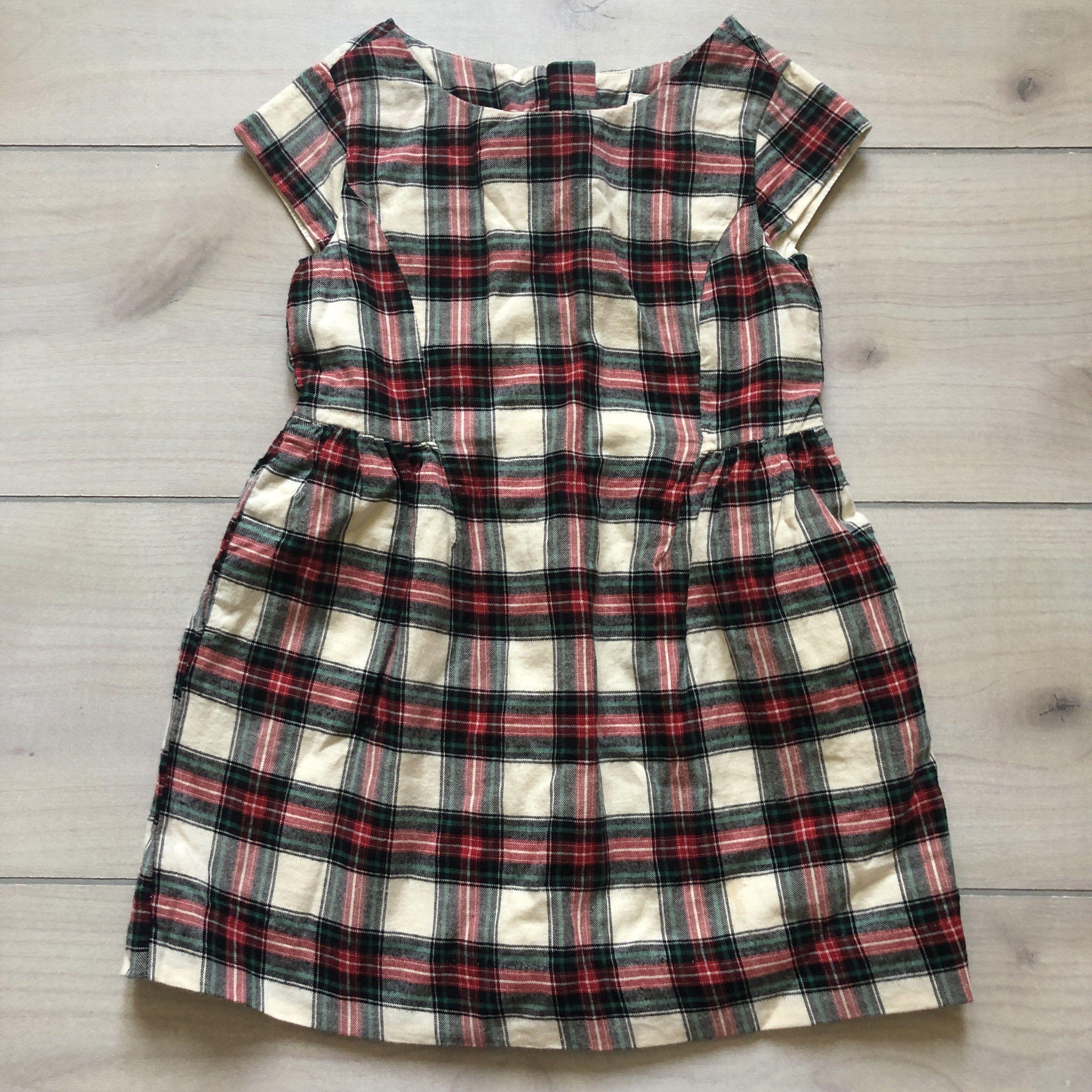 Gap Kids Red Green Flannel Plaid Dress Plaid Dress Plaid Flannel Dress Green Flannel [ 3024 x 3024 Pixel ]