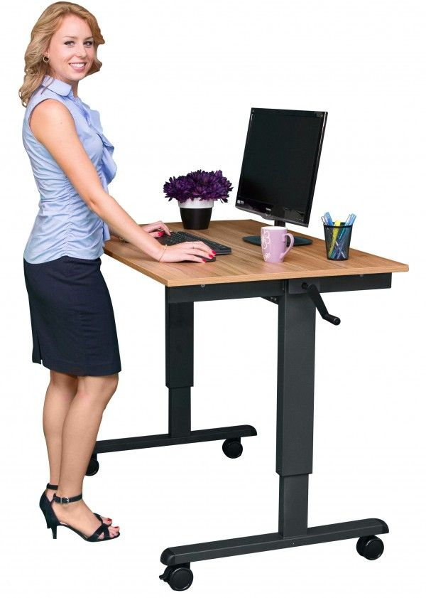 Crank Adjustable Height Standing Desk | Coworking Space