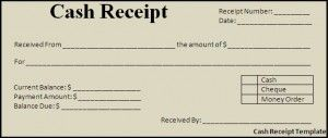 Cash Receipt Template | Templates, Formats and Examples | Misc ...