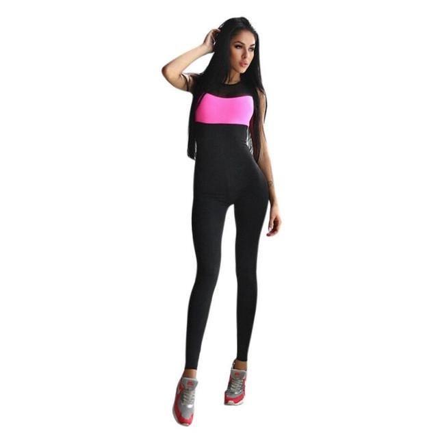 50b3437c1c3c Newest 2017 Fashion Jumpsuit Women Workout Active Wear Fitness Stretch  Pants High waist Slim Women Jumpsuits LSIN