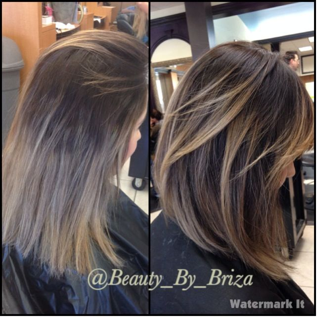 Base Color And Partial Highlight With No Toner Balayage By