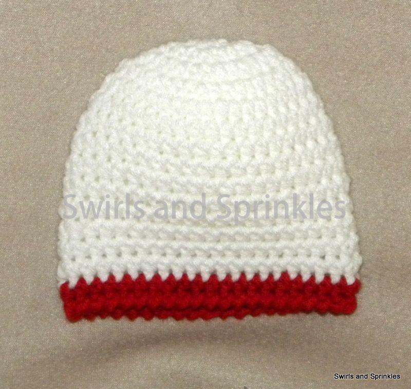 crochet newborn beanie free pattern   This is a very easy newborn ...
