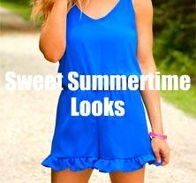 Sweet Summertime Looks!   www.belleboutiquenwa.com   #xoxoBelle