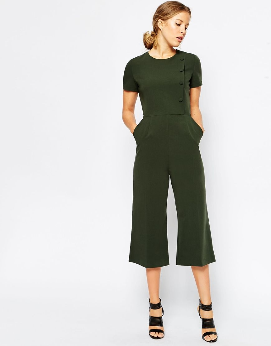 Image 1 of ASOS Military Jumpsuit with Button Detail | Fashion ...