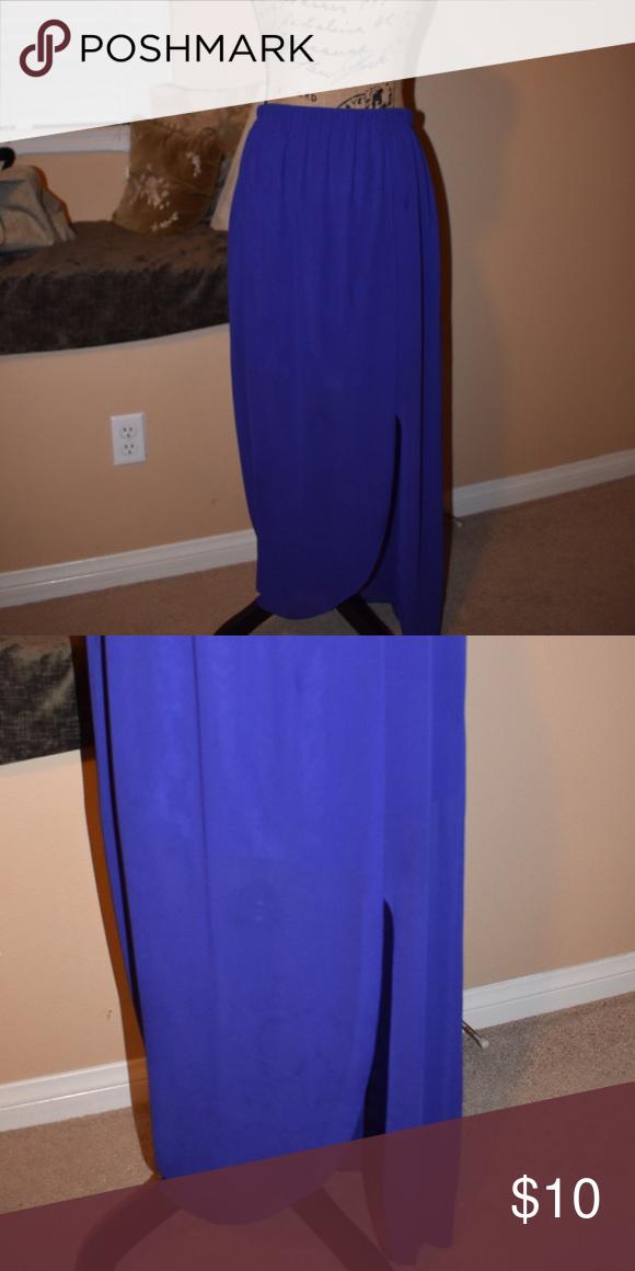 Forever 21 purple long skirt with slit Forever 21 long skirt with slit Forever 21 Skirts Maxi