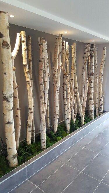 Tronc de bouleaux dans hall d immeuble http signature - Immeuble vegetal ...