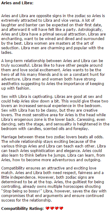 Aries man and libra woman friendship