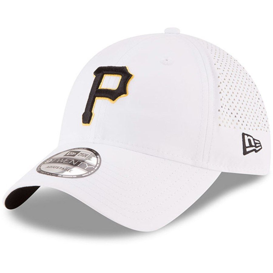 outlet store 0a6ff 17d4d Men s Pittsburgh Pirates New Era White Perforated Pivot 9TWENTY Adjustable  Hat,  25.99