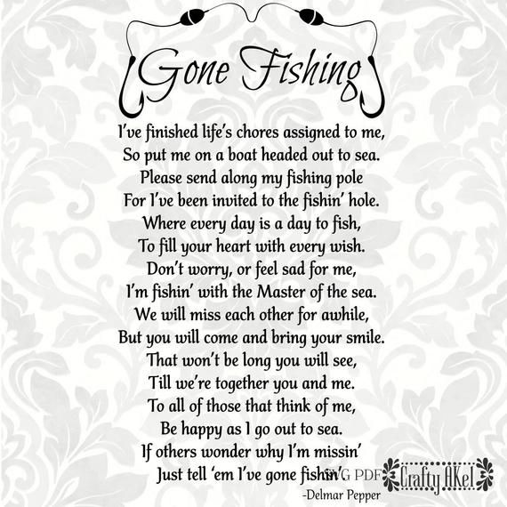 Gone Fishing Poem ++ If youre looking for a file that is