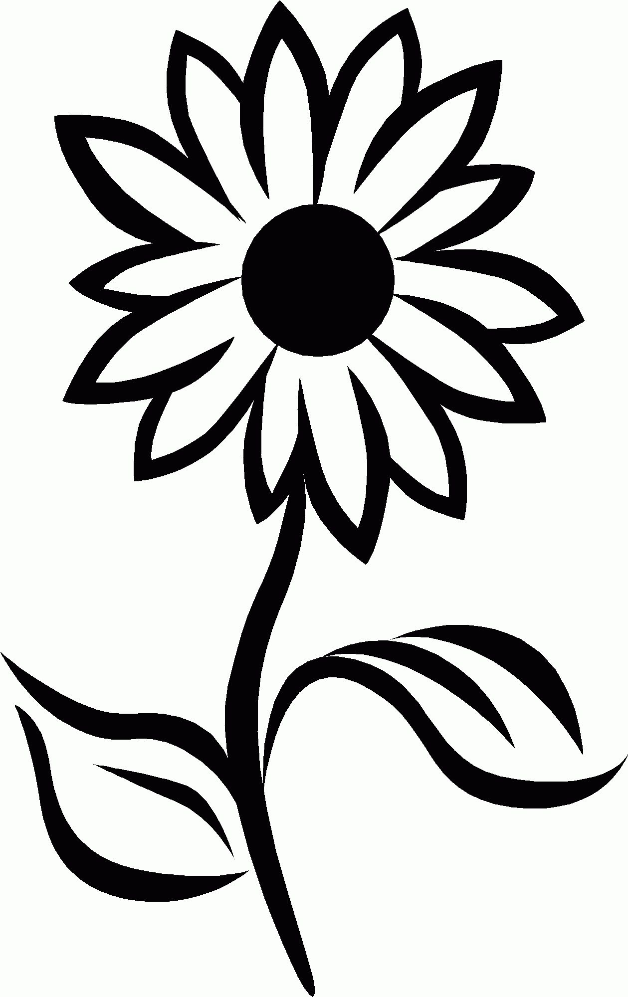 Black And White Sunflower Drawing Black Sunflower Drawing Sunflower Black And White White Sunflowers