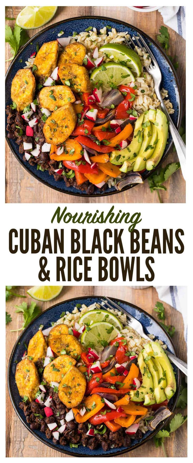 Cuban Black Beans And Rice Bowl Vegan Vegetarian