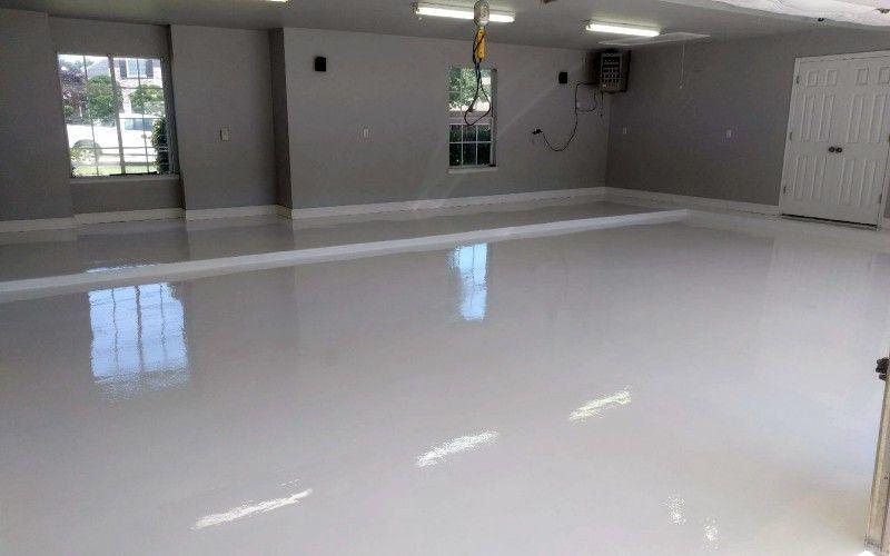 White Epoxy Garage Floor Coating 6 Month Review Garage Floor