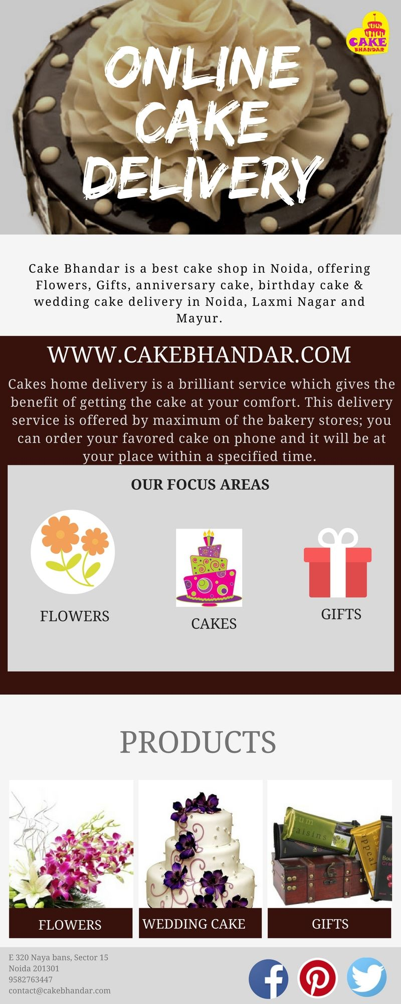Cake Bhandar Is A Best Cake Shop In Noida They Are Offering Flowers
