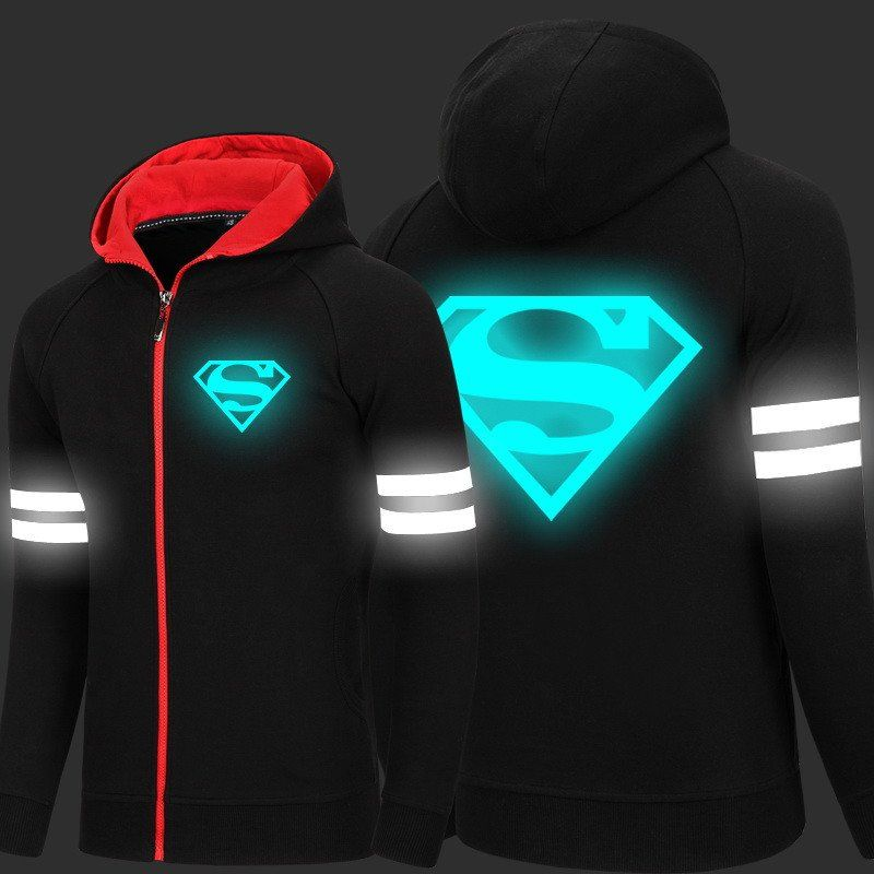 ad2cc3603bcbe Superman Limited Edition Luminous Hoodies