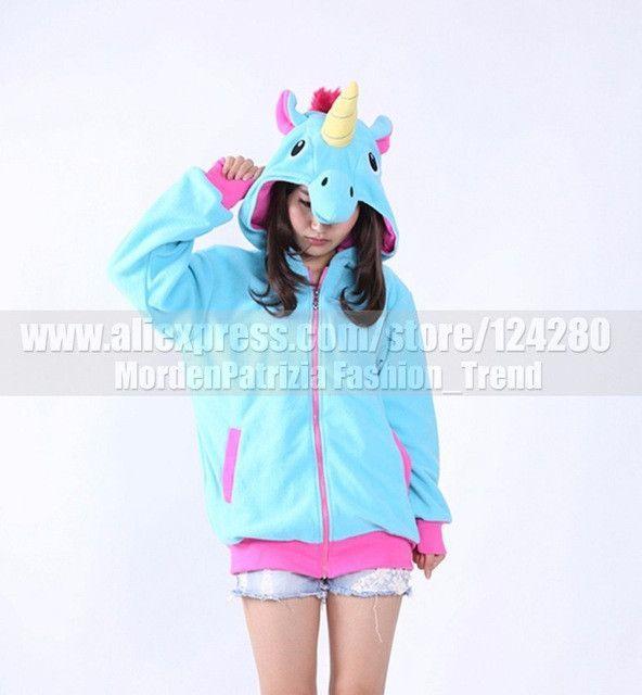 51b3066eec59 Women 3D Cartoon Animal Hoodies Costume Totoro Men Pokemon Pikachu with  Ears Face Eyes Sweatshirt Jacket Hoodies with Zip Hood