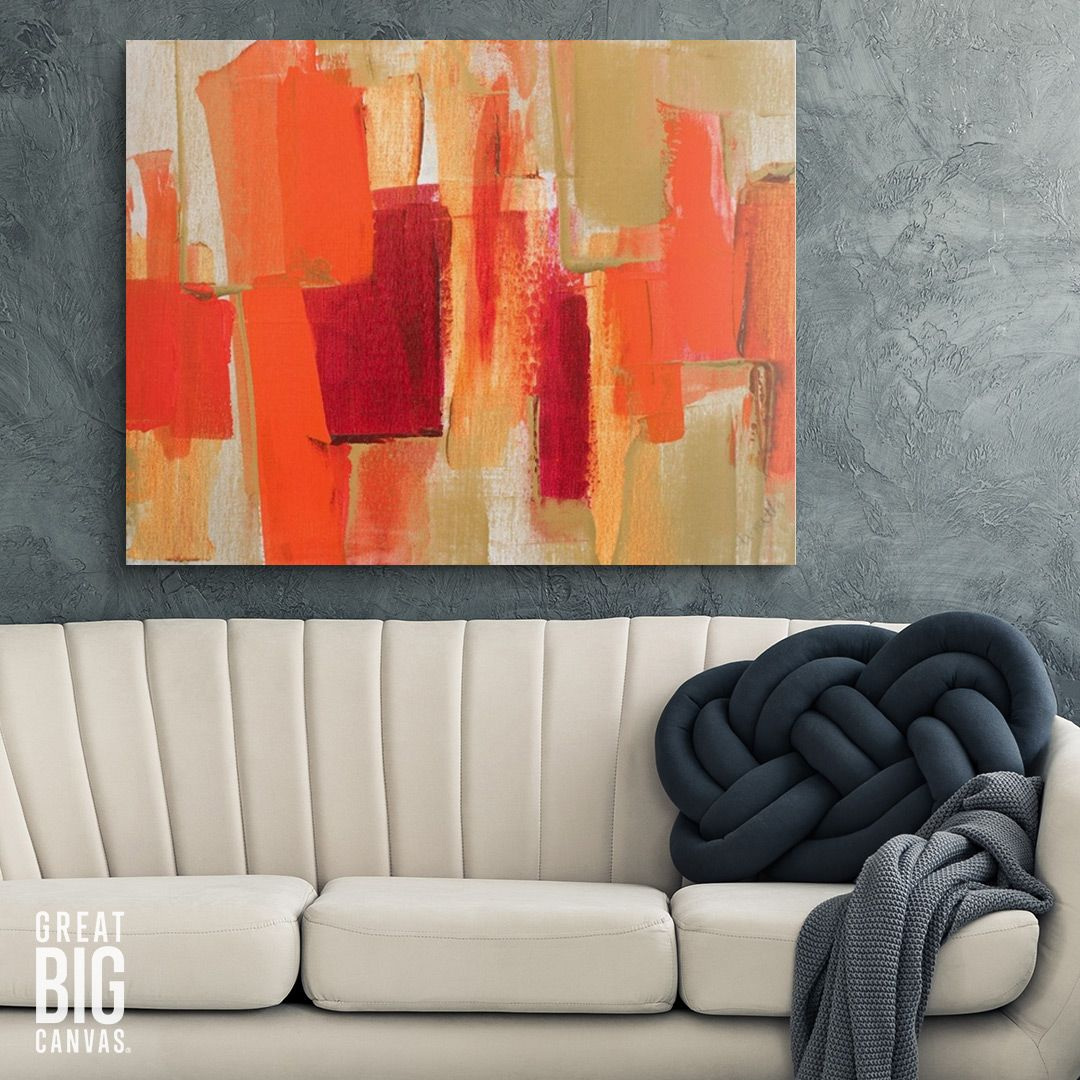 Pin On Orange Abstract Art