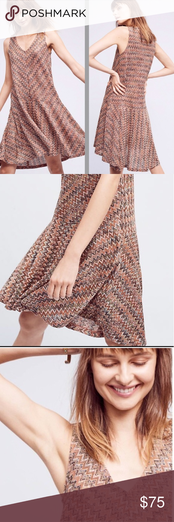 534d50467f08 ANTHROPOLOGIE MAEVE West Water Knit Dress Boho Mod Maeve West Water Knit  Dress Sz.S