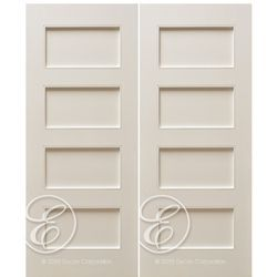 Escon Doors MP6004WP-2 4-Panel Primed White Shaker Style Interior Double Door at  sc 1 st  Pinterest & Escon Doors MP6004WP-2 4-Panel Primed White Shaker Style Interior ...