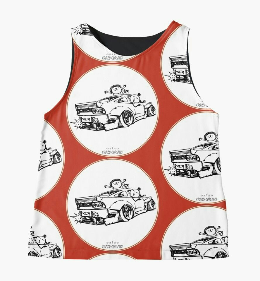 'Crazy Car Art 0007' Sleeveless Top by ozizo 絵, イラスト