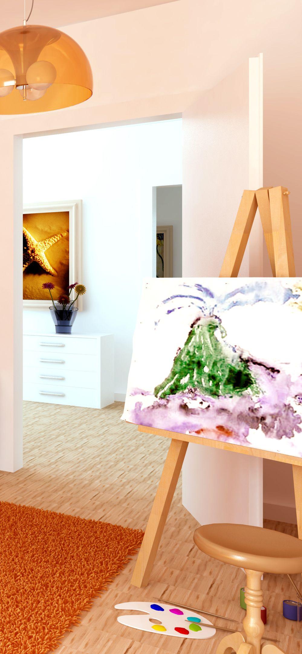 Für mehr Farbe im Kinderzimmer – eine kreative Ecke zum Malen und ...