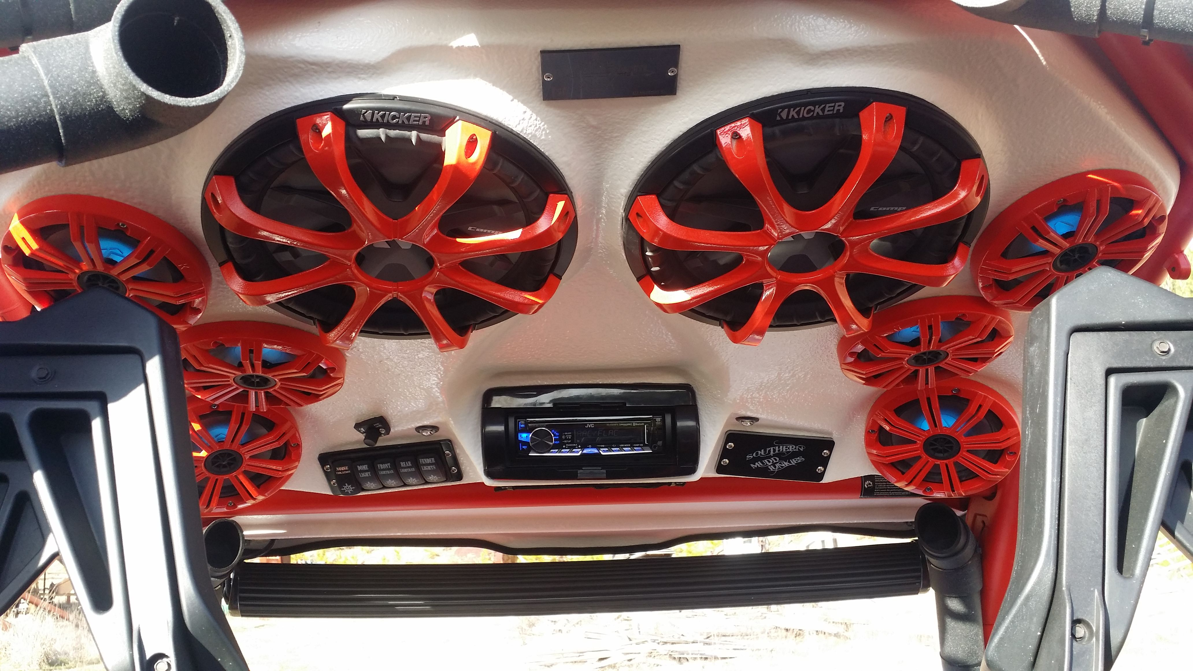 Mayhem Manufacturing Can Am Maverick Commander Audio Roof With 8 6 5 Coaxle Kicker Marine And 2 12 Kicker Subwoofers Find Us On Can Am 4 Wheeler Car Audio