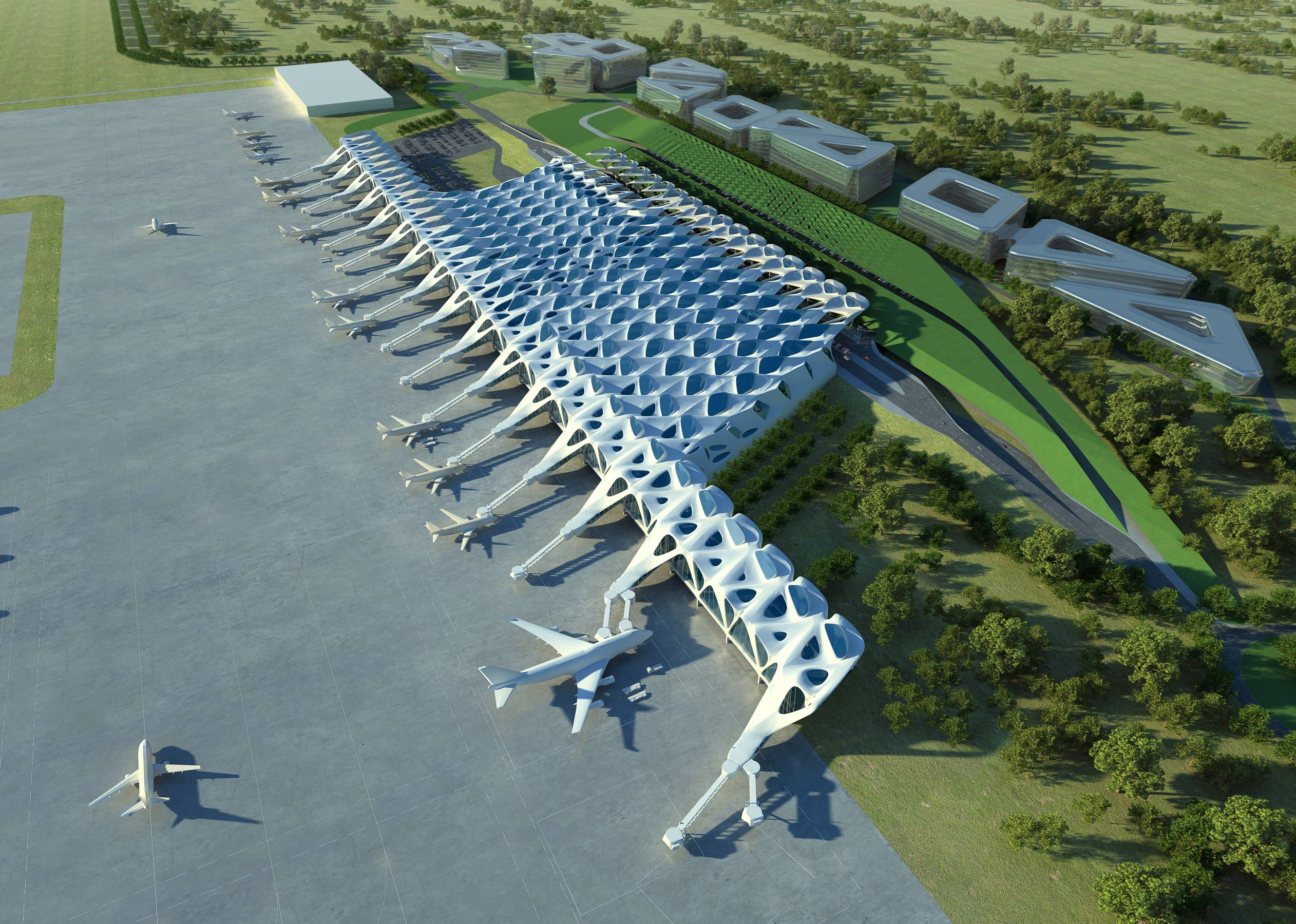 9 Stunning Next Gen Airport Designs Cleared For Takeoff Airport Design Zaha Hadid Zaha Hadid Architecture