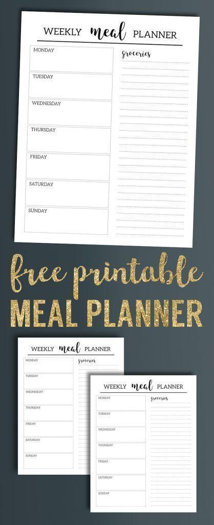 free printable dinner menu