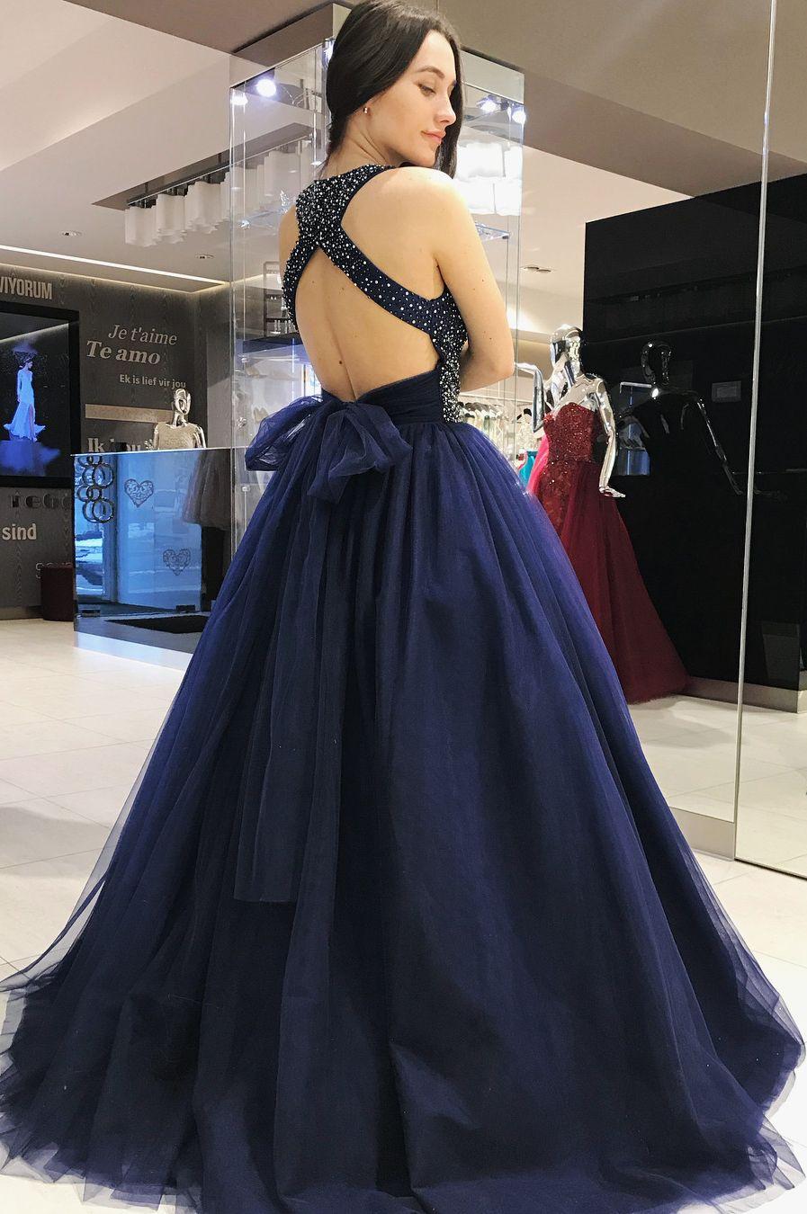 Elegant scoop royal blue ball gown sweet dress moda pinterest