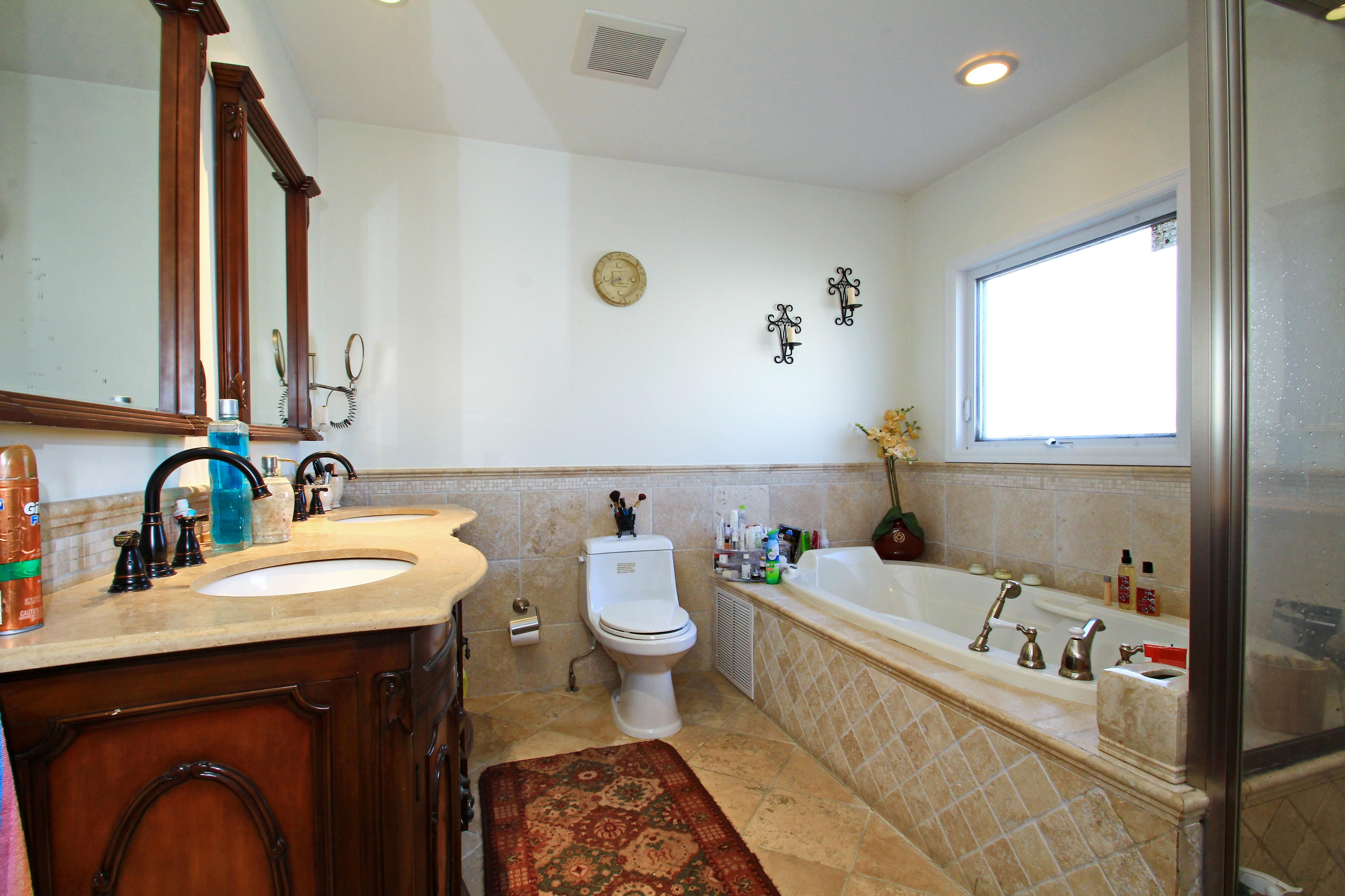 Master bedroom with jacuzzi tub  OnSuite Master Bath with Jacuzzi Tub Separate Shower and Dual
