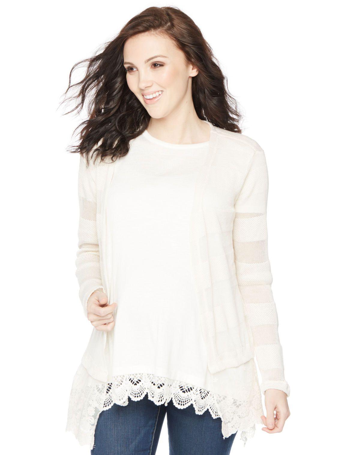 98573c984 Motherhood Maternity Long Sleeve Swing Maternity Sweater