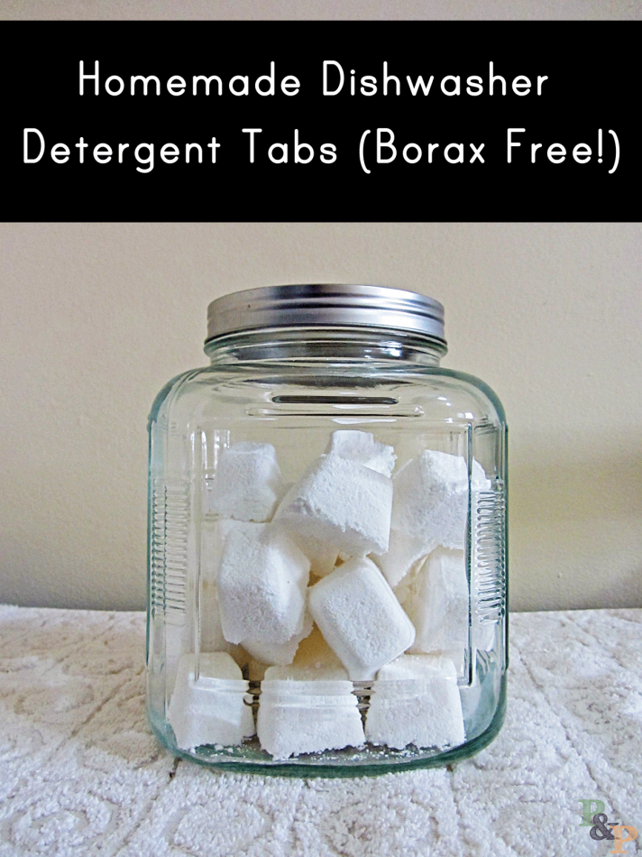 These awesome homemade dishwasher detergent tabs are great for green cleaning! The easy and healthy recipe will keep your dishes shiny any clean.
