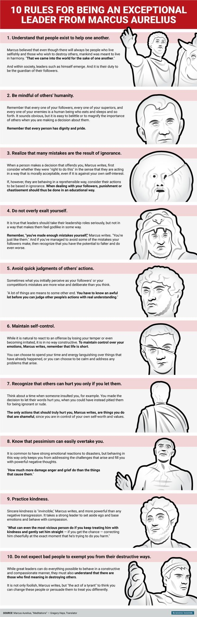 10 rules for being an exceptional leader from Marcus Aurelius