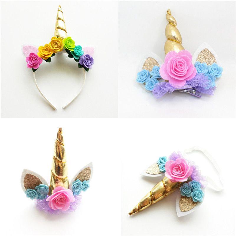 Unicorn Headband Clip Or Stretch Hairband Unicorn Headband Diy Unicorn Headband Unicorn Party