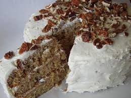 Hummingbird cake with bananas and canned pineapple