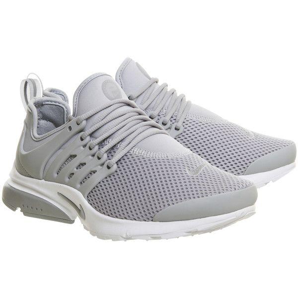 Nike Air Presto Fs Trainers Wolf Grey Breathe White ($115