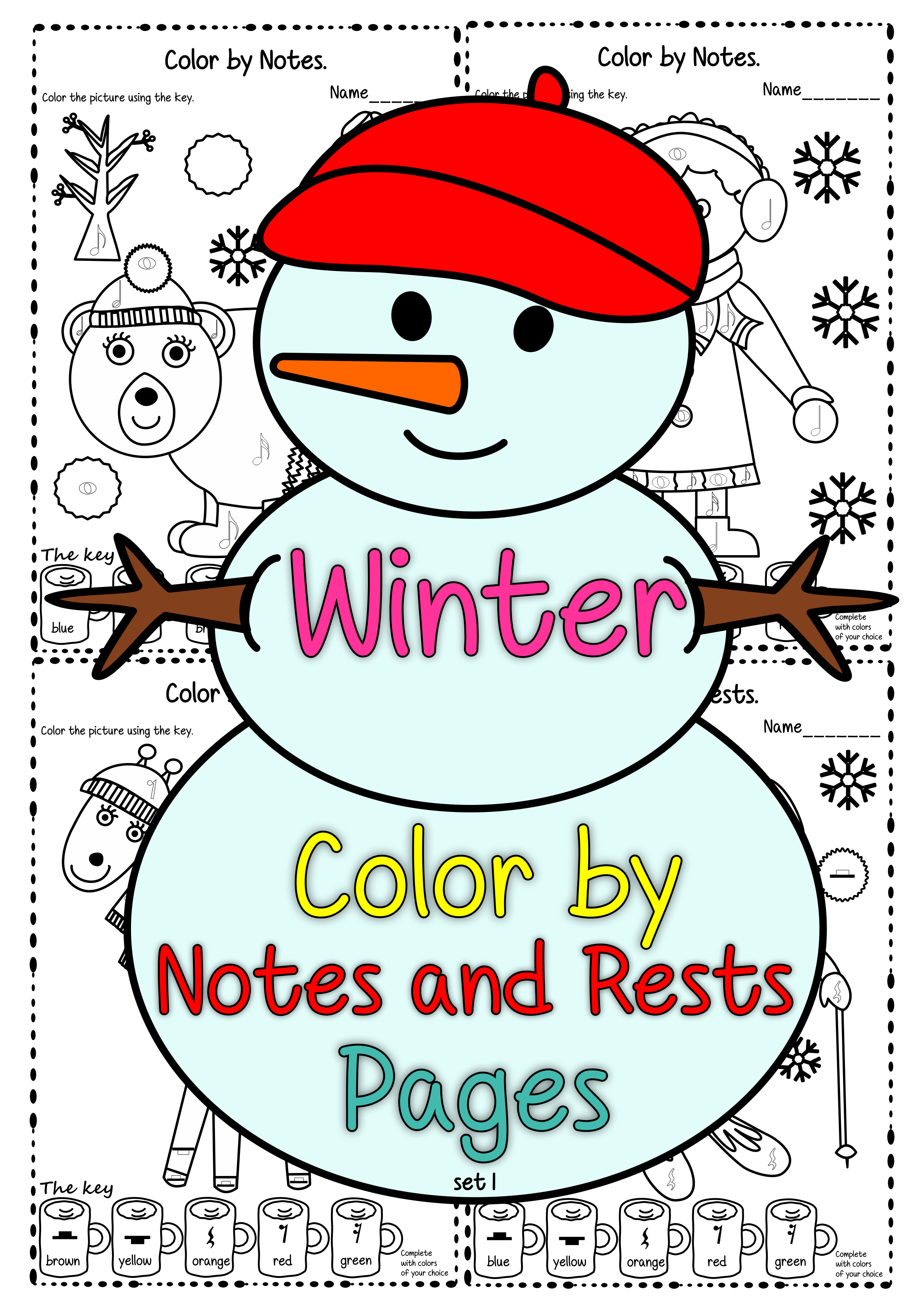 Winter Color By Notes And Rests Pages