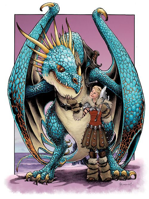 How to Train Your Dragon | Astrid and Stormfly by Daniel Govar