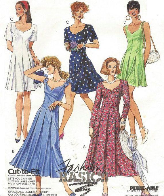 8102 UNCUT Vintage McCalls SEWING Pattern Misses 2 PC Dress Jacket Skirt FF OOP