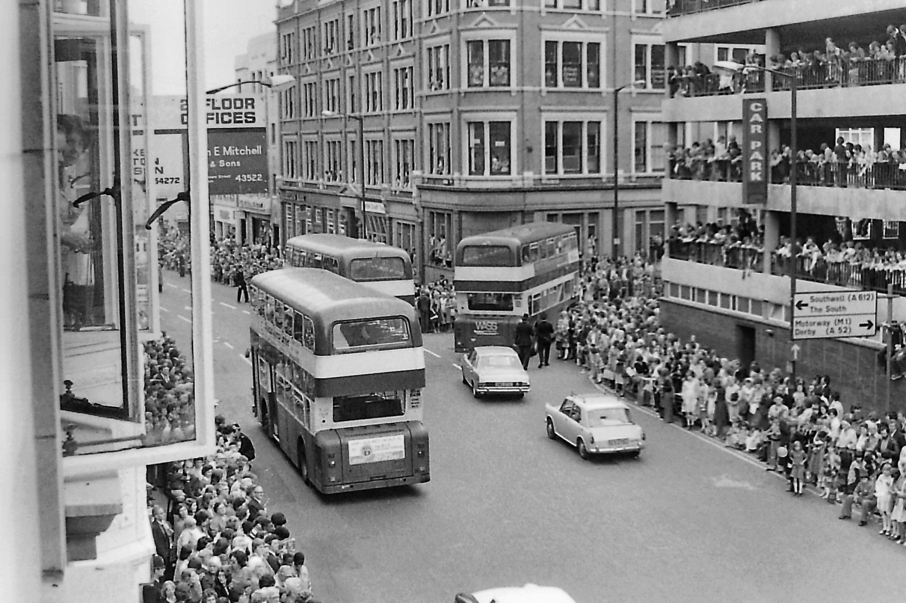 Queen's Silver Jubilee visit to Nottingham, 28 July 1977