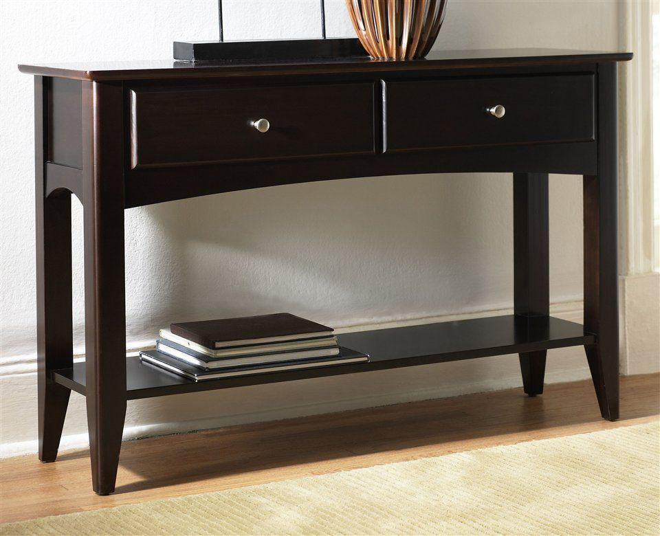 Cosmopolitan Sofa Table In Espresso Finish 433 48 X 14