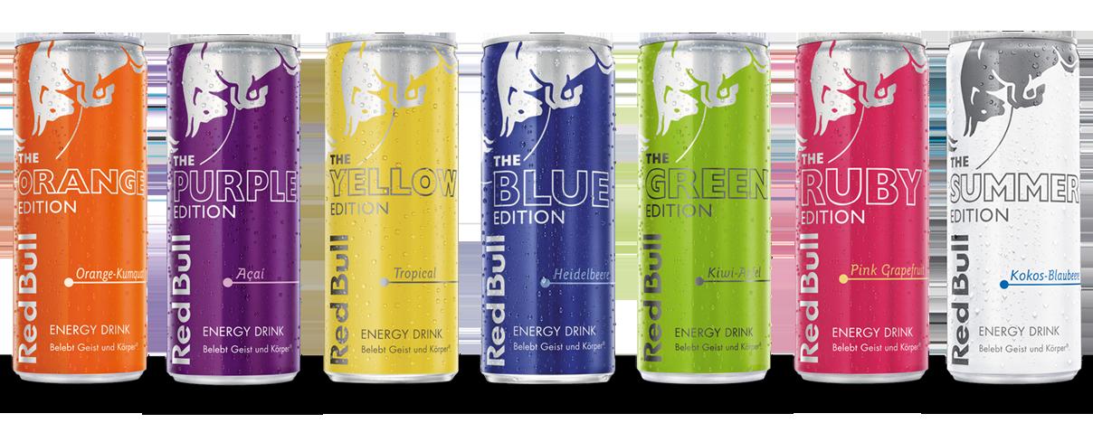 Red Bull Editions Sorten Energy Drink Red Bull Deutschland Getranke Energie Trinken