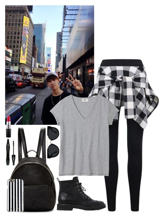 """-Exploring the city w/ Minghao-"" by daddyslittlestprincess on Polyvore featuring Giuseppe Zanotti, STELLA McCARTNEY, Quay, MICHAEL Michael Kors, MAC Cosmetics, Lancôme, kpop, seventeen, Carat and minghao"