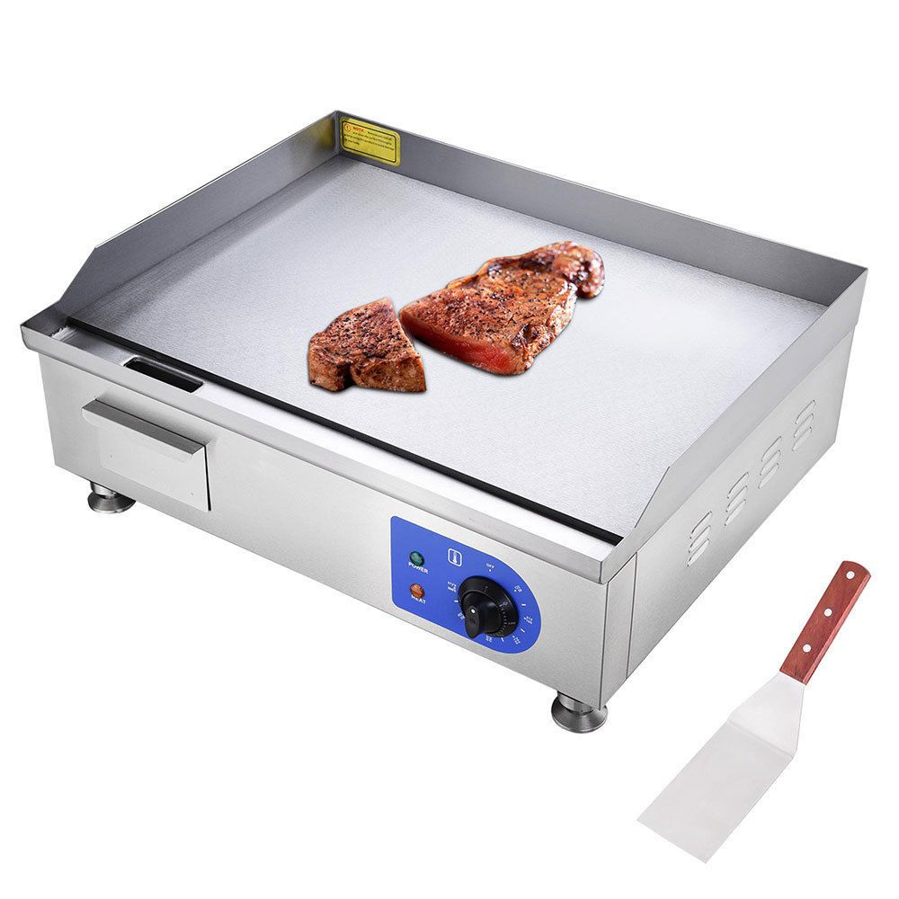 24 1500w Electric Countertop Griddle Flat Top Commercial