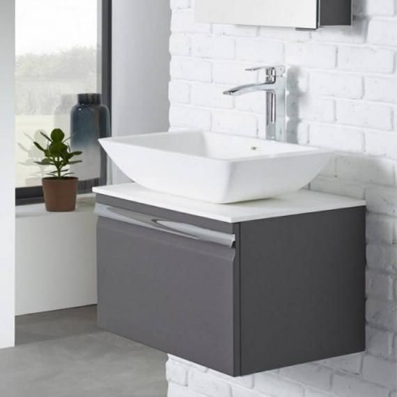 Roper Rhodes Pursuit Charcoal Elm Vanity Unit Worktop Basin - Bathroom vanity unit worktops for bathroom decor ideas