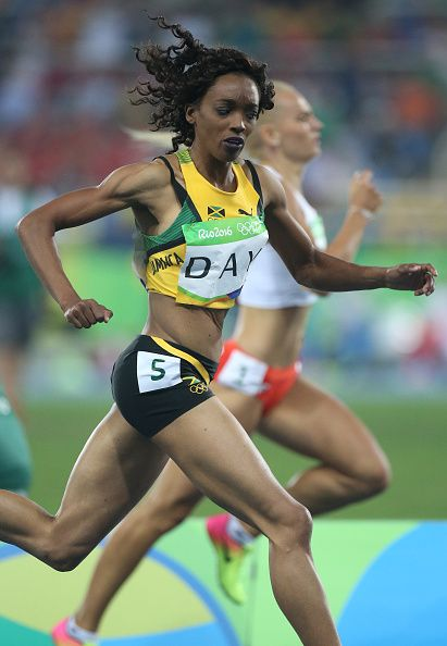 Christine Day of Jamaica in action during the women's 400m on day 8 of the Rio…